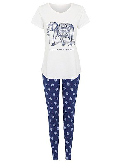 Follow Your Dreams Pyjama Set, read reviews and buy online at George at ASDA. Shop from our latest range in Women. Get to sleep in a comfortable bliss so you...