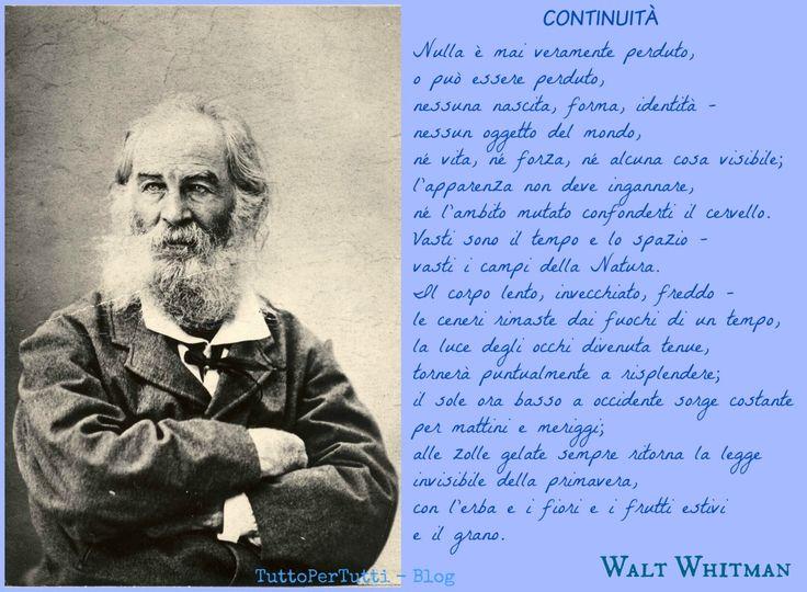 TuttoPerTutti: WALTER WHITMAN (West Hills, 31 maggio 1819 – Camde...