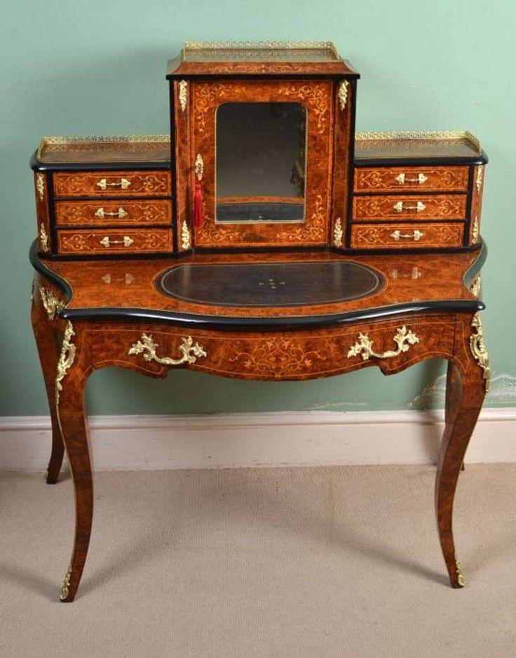 Antique victorian burr walnut bonheur du jour circa 1860 for Modern victorian sofa