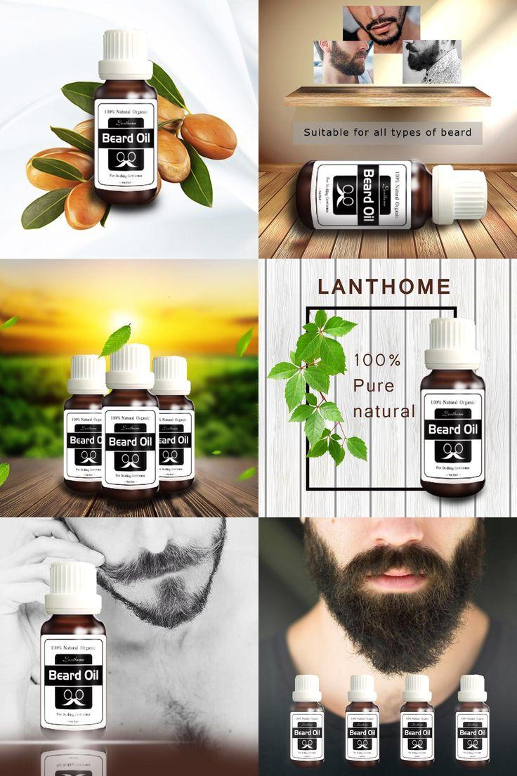 [Visit to Buy] 2016 New Lanthome Original Beard growth oil mustache grow stimulator 100% natural accelerate beard growth oil facial hair grower #Advertisement