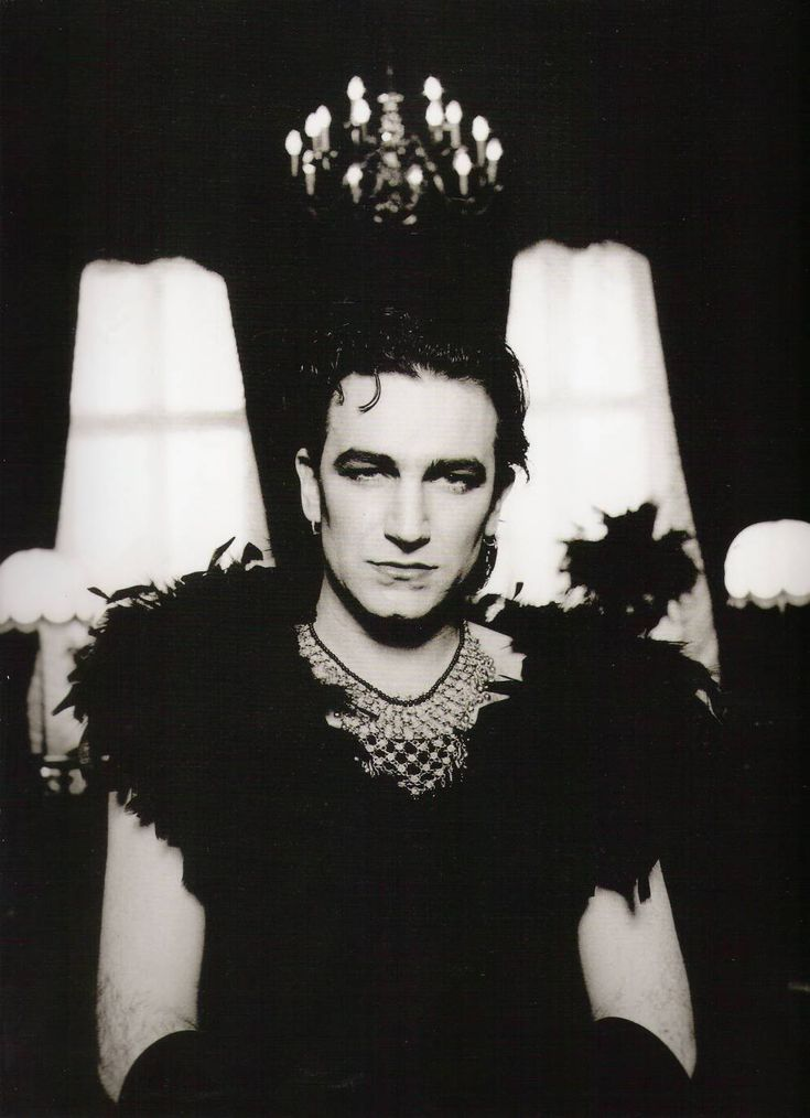 Bono in drag during the Achtung Baby era by Anton Corbijn