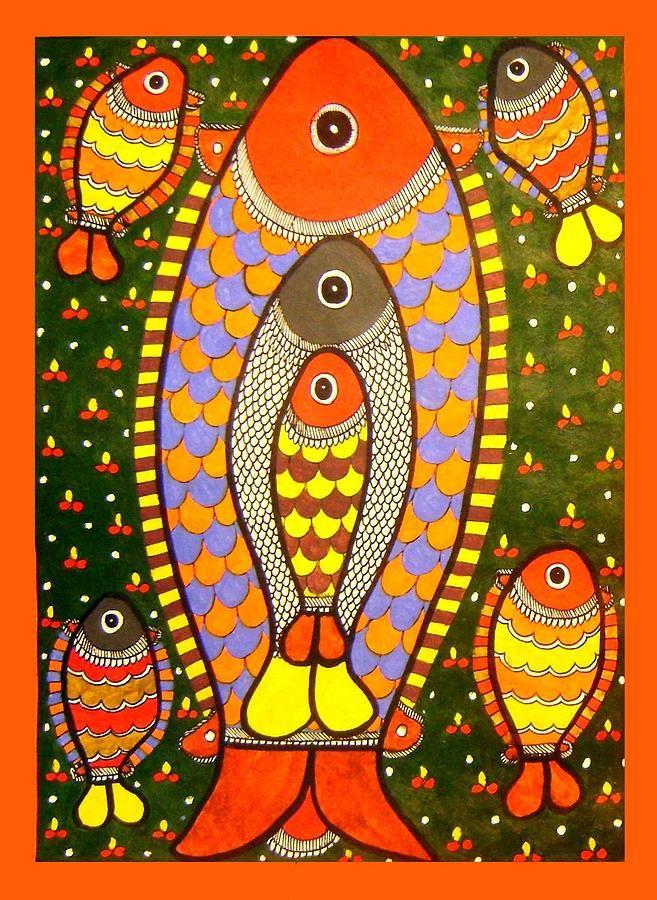 simple madhubani paintings - Google Search