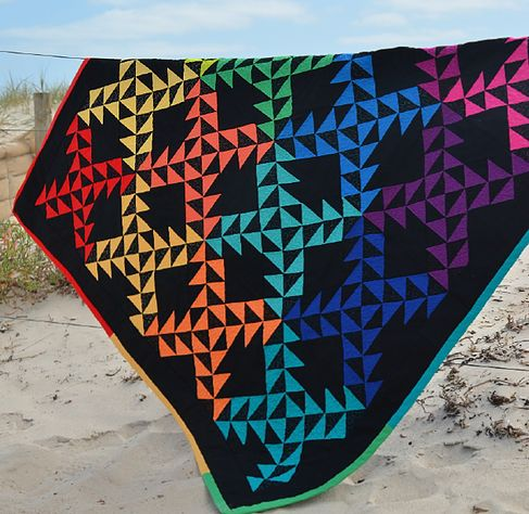 Make Modern | Pattern available in Issue 10 | Rainbow Flying Fish by Lisa Chambers | Instant download from www.makemodern.com.au