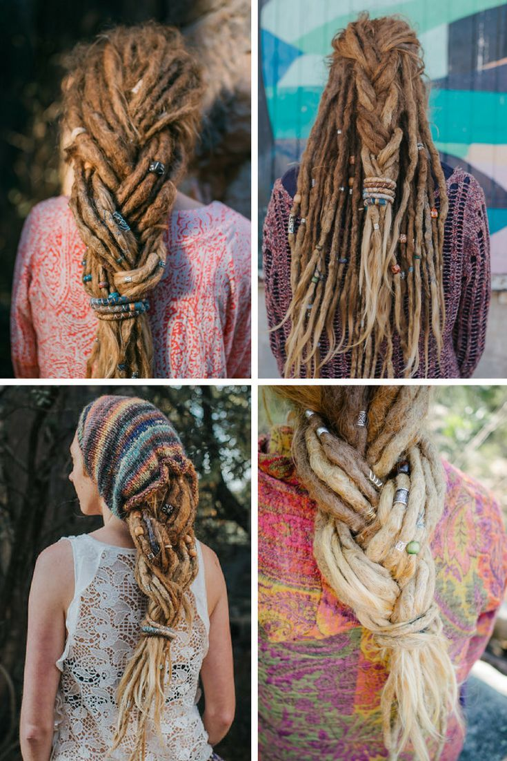Dreadlock Hairstyles - Dread Plait - Dreadstyles - Dreadlock Love - www.mountaindreads.com  Dreadlock Beads -  Natural Dread Care -  Dreadlock Accessories  Dread Tie - Spiralocks #dreadlockhairstyles #dreadbeads #spiralocks