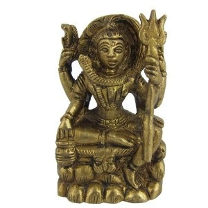Statues Hindu Religious God Brass Sculpture Lord Shiva Size : 5.08 x 5.08 x 6.35 Cm: Amazon.co.uk: Kitchen & Home
