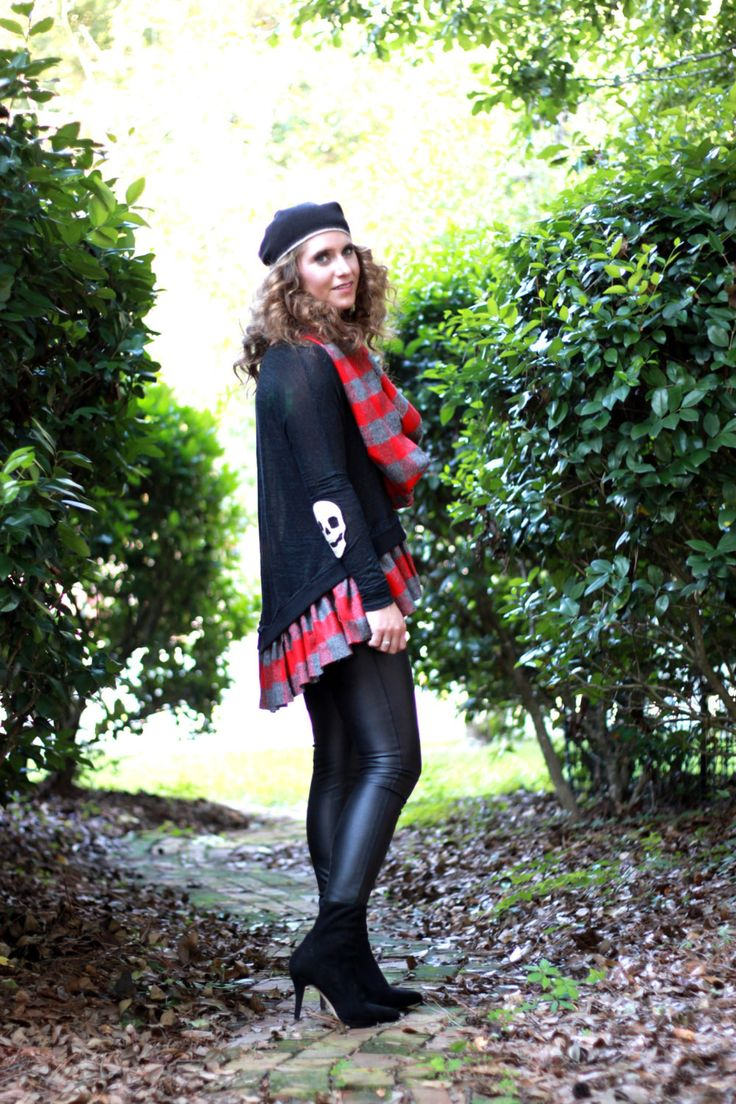 Music Festival Skull Flannel Sweater Bohemian Fall Festival Boho Clothes, Collegiate Stevie Nicks Style Gypsy Chic, True Rebel Clothing Med
