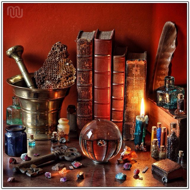 The Alchemist's Workshop or Laboratory