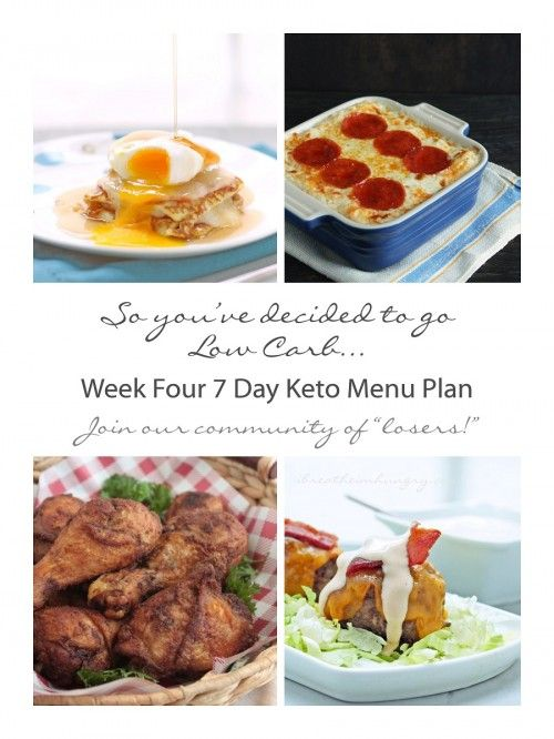 WEEK 4 |  Free 7 Day Keto, Atkins, and Low Carb Diet Menu Plan, shopping and prep list from ibreatheimhungry.com