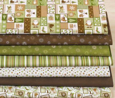 """Набор тканей """"Weihnachten braun/grün"""" 99-83310 - Наборы тканей - SEW-shop.com"""
