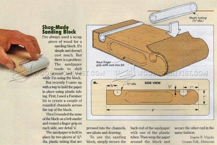 Shop Made Sanding Block - Sanding Tips, Jigs and Techniques | WoodArchivist.com
