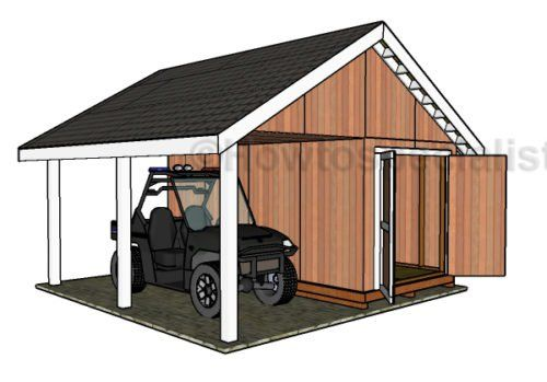 How To Build A 8 215 16 Shed With Porch Diy Pinterest