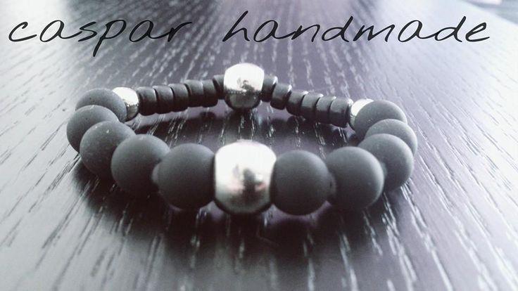 caspar black bead bracelet unisex for woman and men
