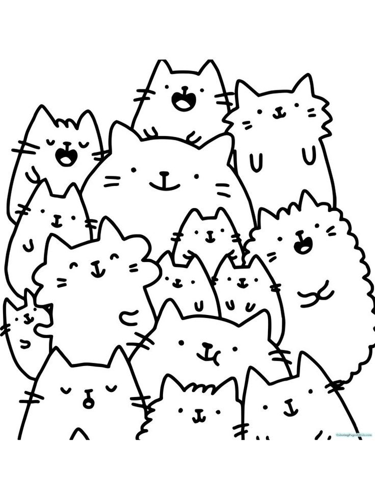 30++ Coloring pages pusheen unicorn info