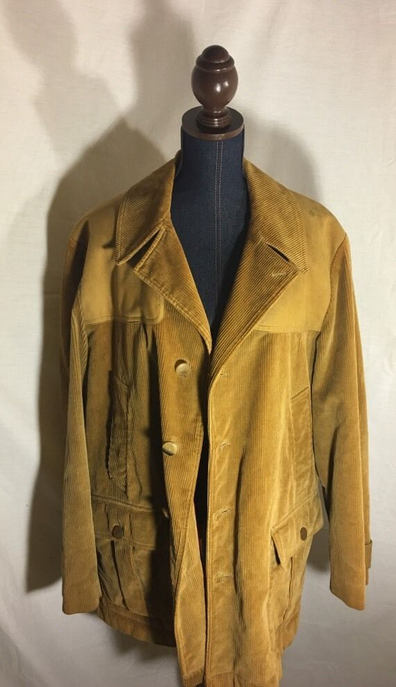 Vtg Squire Invertere Newton Abbot Upland Hunting Fly Fishing Corduroy Jacket 44 #Squire