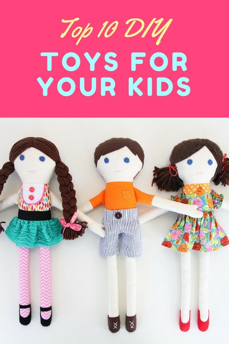Here you can find top 10 fantastic homemade kids' toys that you can totally make at home. Whether you're looking for a toy you can sew, craft or build for your kids, we are sure that you can find inspiration in this collection. Enjoy!