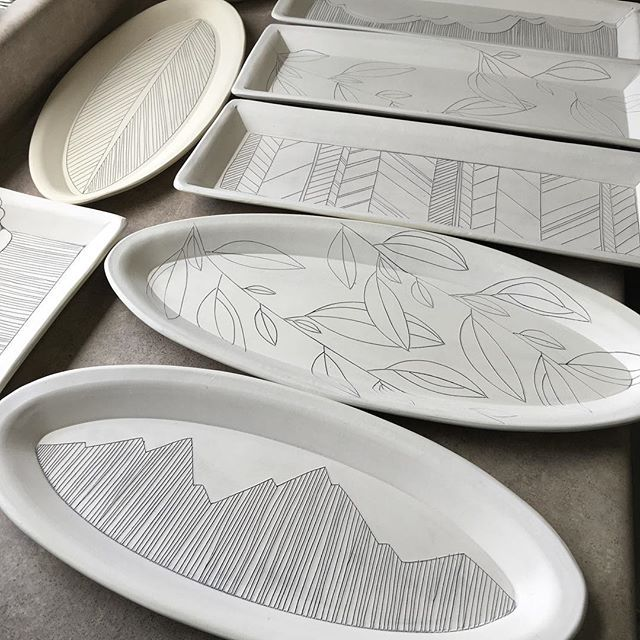 Gorgeous platters! @gr.pottery.forms. @madewell1937