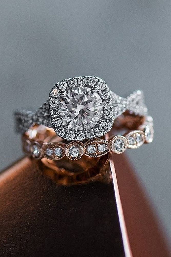 24 Beautiful <b>Wedding</b> Ring Sets For Your Girl | Rings | Beautiful ...