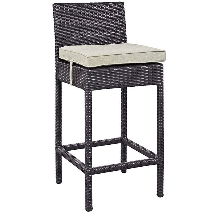 modway furniture convene outdoor patio fabric bar stool