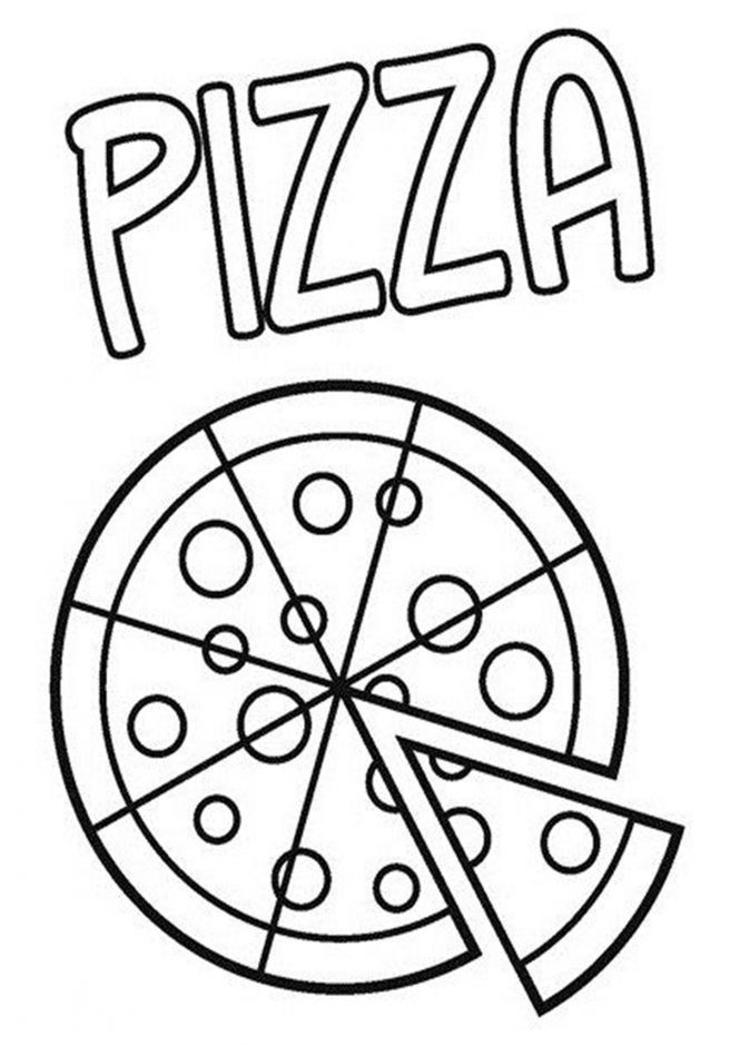 Free Easy To Print Pizza Coloring Pages Pizza Coloring Page Food Coloring Pages Preschool Coloring Pages
