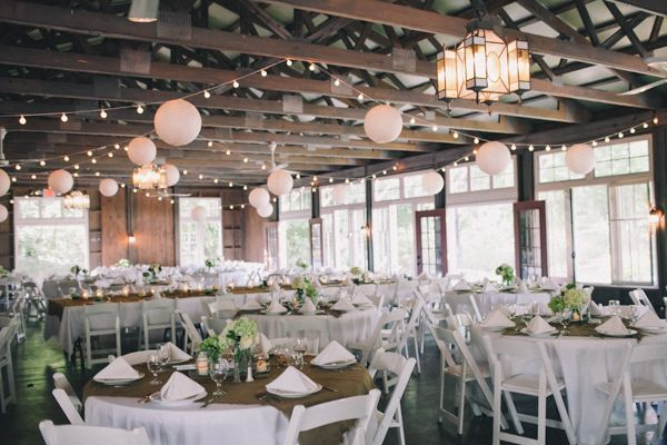 indoor reception with paper lanterns // photo by J Wiley Photography