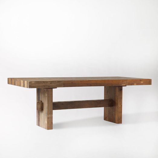 Emmerson Dining Table | West Elm {WANT ?(nned a good sturdy farmhouse table that isnt fussy & works classic/ modern }
