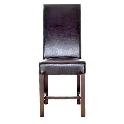 "Rolled Back Dining Chair     Description  Chair height 16""    was $209.99 now $104.99   SKU 115205   19 inches wide x 20 inches long x 40 inches high"