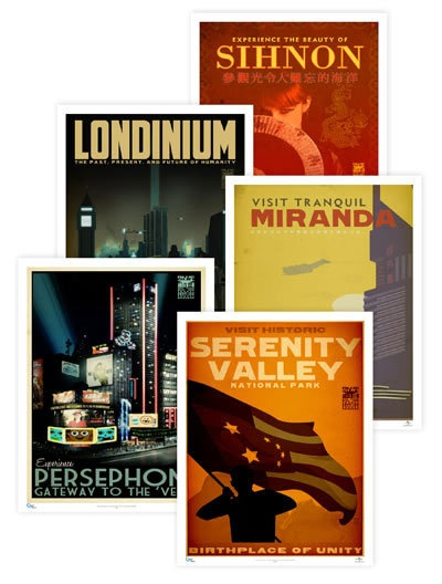 Firefly destination posters