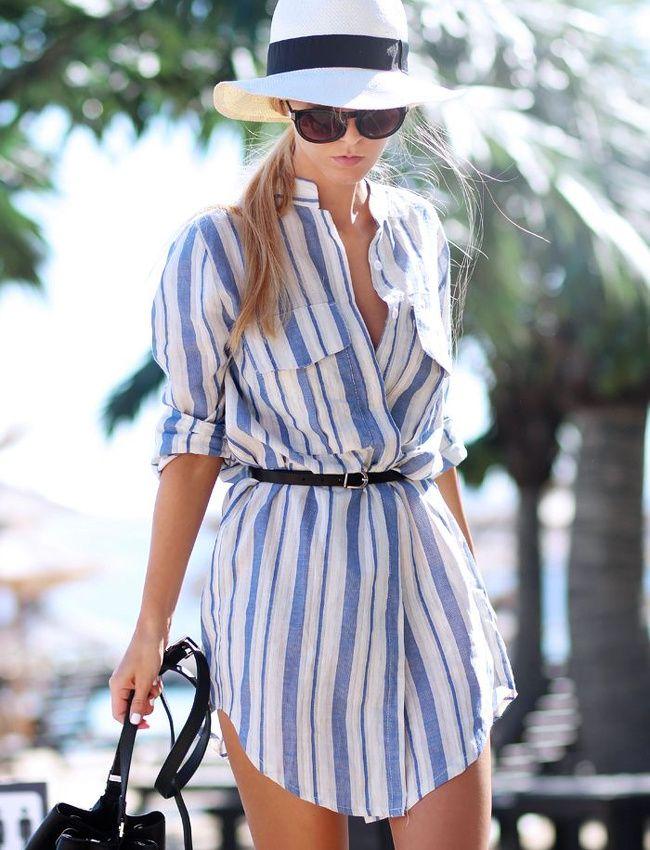 Oui à la robe de plage façon chemise de grand-père !
