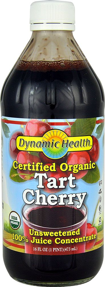Dynamic Health Certified Organic Tart Cherry Juice Concentrate Unsweetened