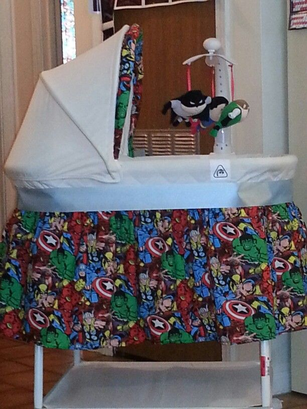 Superhero bassinet to match superhero nursery :)