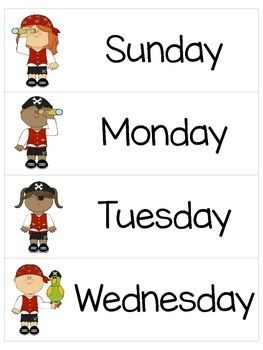 1000+ images about Free Days and Months Printables on Pinterest ...