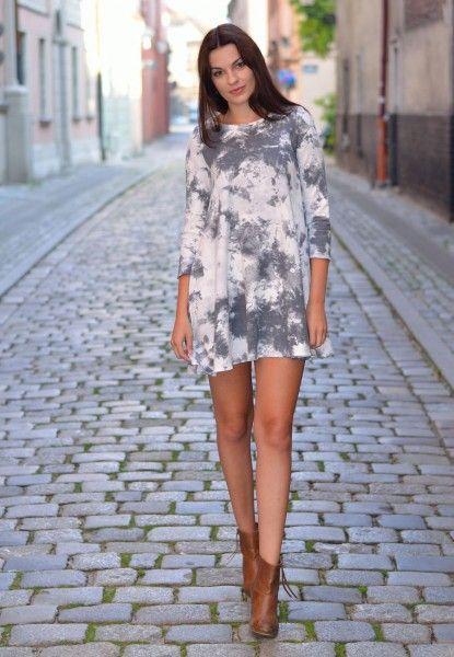 Sukienka Szara melanż PD