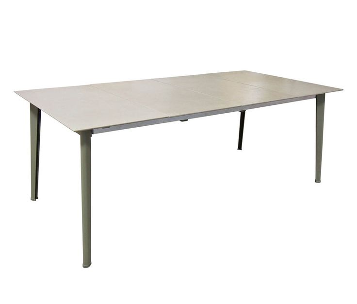 Extensible  table with ceramic top 200+100x100