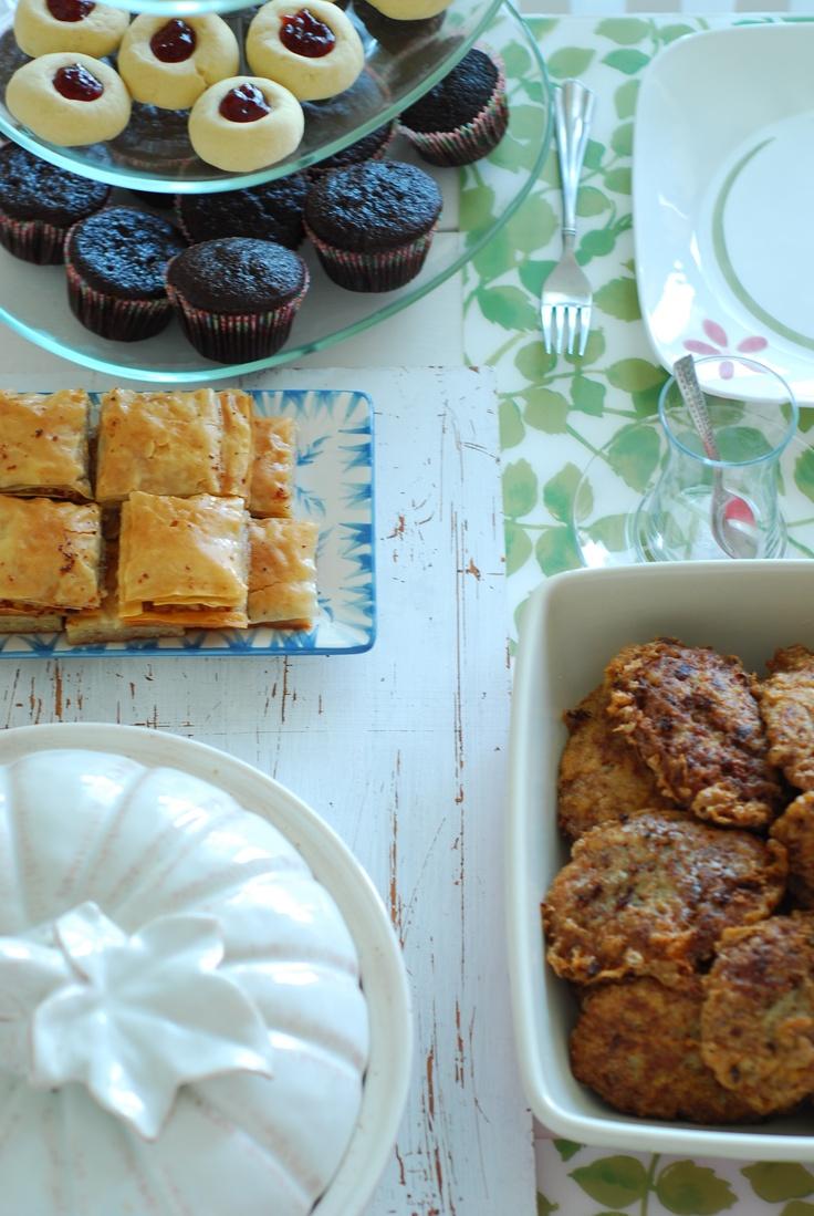 Breakfast with Turkish Kadinbudu Kofte, Baklava Jam Cookies. Alla you can find in soframiz.com