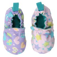 WeeChooze in Celebrate Pastel Weechooze Baby Booties: Designed to delight tiny toes and engage little inquisitive minds, weechooze features CHOOZE's signature coordinating prints, stimulating colors, super soft microfiber lining, elasticized ankles, and non-slip soles. Available in 3 sizes: 0-6 months, 6-9 months, and 9-12 months.