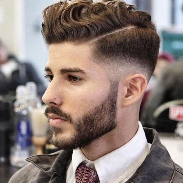 coiffure homme cheveux bouclés comb over dégradé progressif