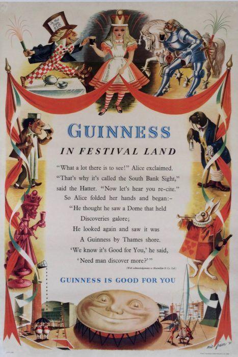 Guinness in Festival Land | Kiki Werth Original Vintage Posters