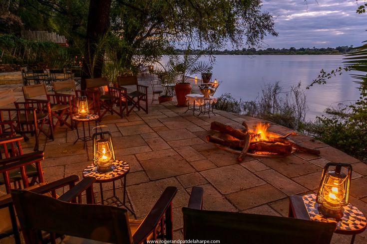 Tongabezi Lodge in Livingstone, Zambia. What and Ideal spot for sundowners. Zambezi River in the background.