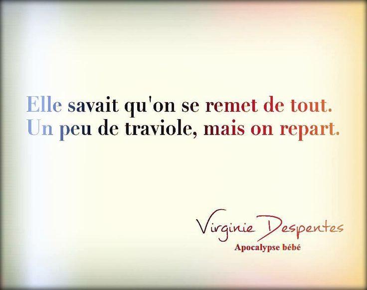 "Virginie Despentes ""Apocalypse bébé"""