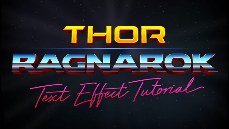 In today's Adobe Illustrator tutorial we're going to reproduce the 80s inspired 3D chrome text effect from the title logo of the recent movie trailer for Thor: Ragnarok. We'll use Illustrator's simple 3D tool to give the text that three dimensional appearance, then create the shiny chrome look with a series of gradient fills. Dameron …