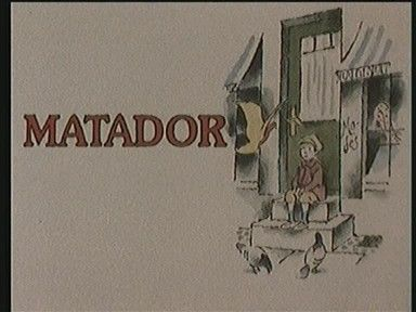 Matador - a Danish TV series produced and shown between 1978 and 1982. It is set in the fictional Danish town of Korsbæk between 1929 and 1947. It follows the lives of a range of characters from across the social spectrum, focusing specifically on the rivalry between the families of two businessmen: The banker Hans Christian Varnæs, an established local worthy, and social climber Mads (Andersen-)Skjern, who arrives in town as the series open. (Click image to see videos.)