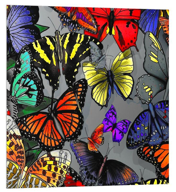 fond de hotte inox cr dence de cuisine stylis par aadecore les papillons stainless steel. Black Bedroom Furniture Sets. Home Design Ideas
