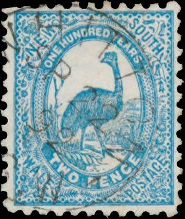 """New South Wales 2d 1888 """"Emu"""" (NSW 100 years)"""