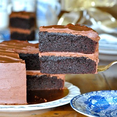 JULES FOOD...: Black Magic Cake with Whipped Dark Chocolate Ganache