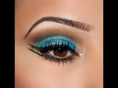 Tuto : Maquillage libanais #2 bleu profond // Deep blue lebanese makeup - YouTube
