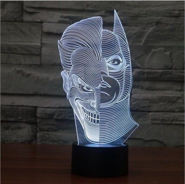 Joker Batman 3d Illusion Led Lamppersonalized 3d Illusion 15 Etsy In 2020 Mood Lamps 3d Led Lamp Led Light Lamp