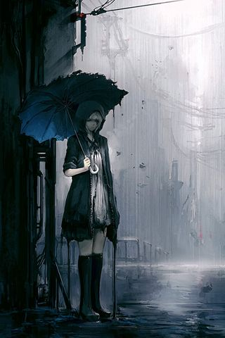 Sad emo anime iphone wallpapers and ipod touch - Sad anime wallpaper ...