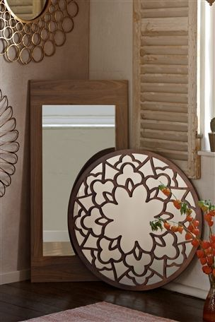 Buy Mode Walnut Mirror From The Next UK Online Shop