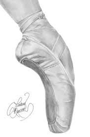 Image result for pointe shoes drawing