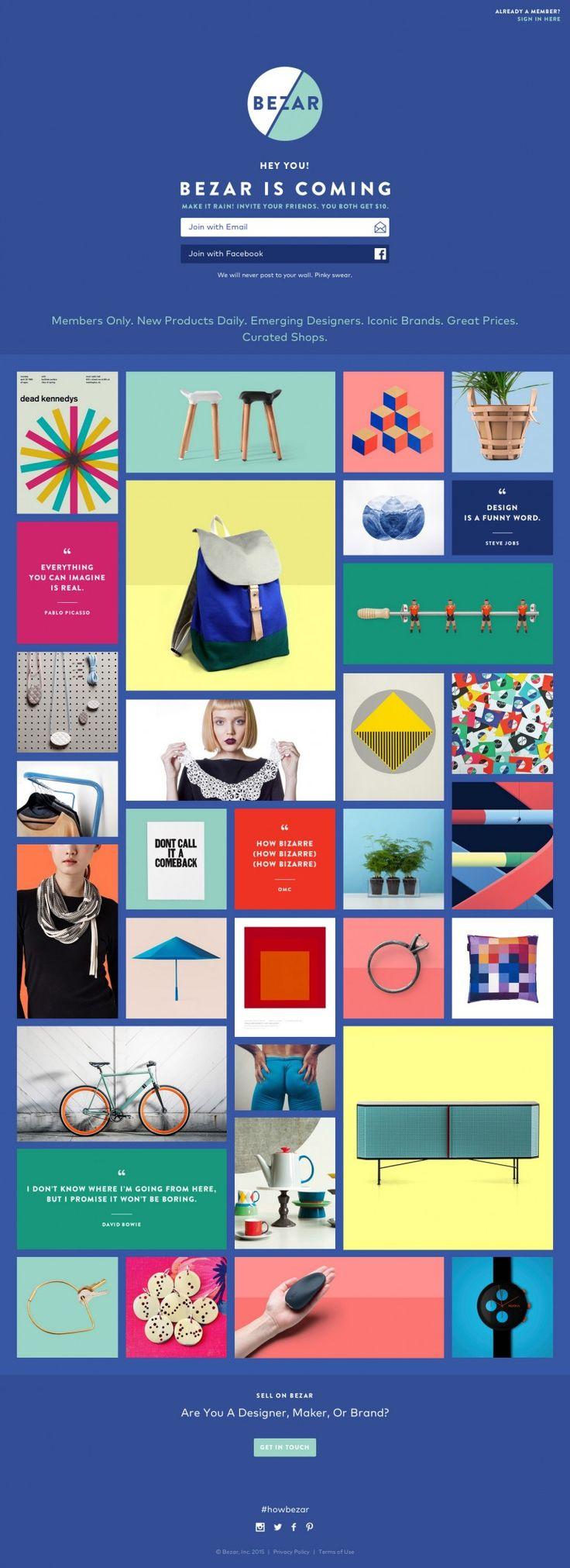 Bezar – Colorful landing page